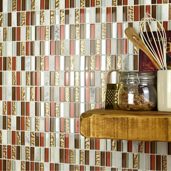Marble and Glass Mosaic Tiles Tiles