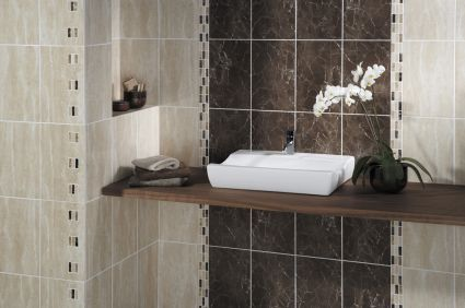 Elgin Marbles Travertine and Marron Tiles
